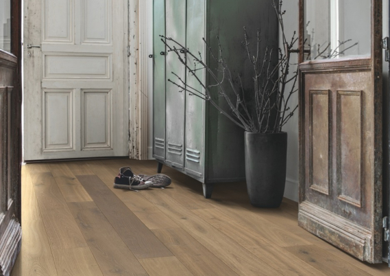 Quick-Step lamelparket - Compact Reclaimed patina eik wit
