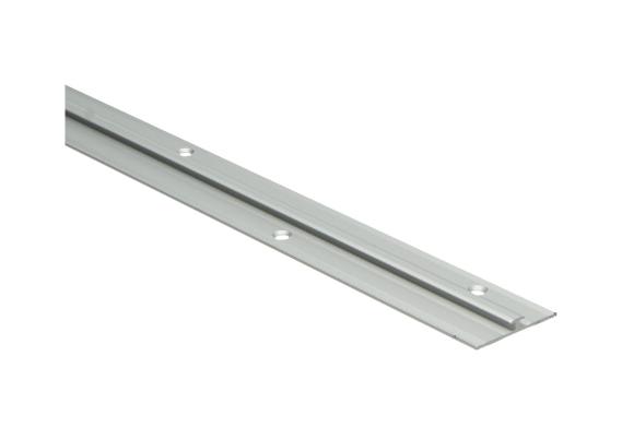 Aansluitprofiel 6mm tbv 2,5mm PVC zilver