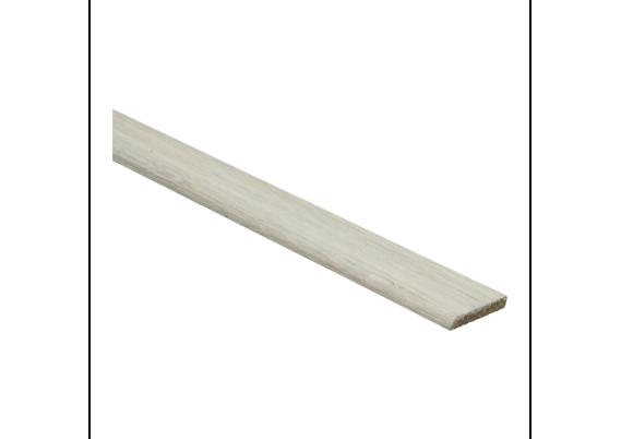 Afwerklijst 6x28 mm eiken dekkend wit geolied