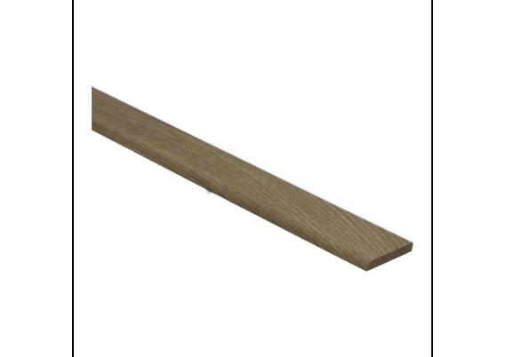 Afwerklijst 6x28 mm eiken dubbel gerookt onbehandeld