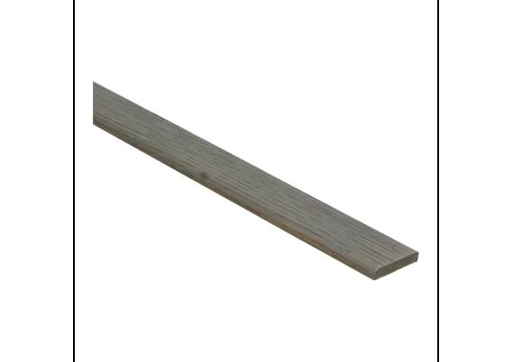 Afwerklijst 6x28 mm eiken grijs geolied