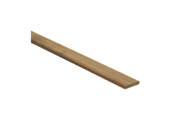 Afwerklijst 6x28 mm kambala  geolied