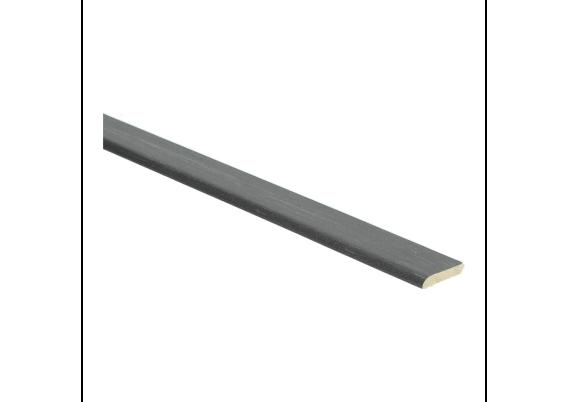 Plakplint trendy zwart 5x24 mm