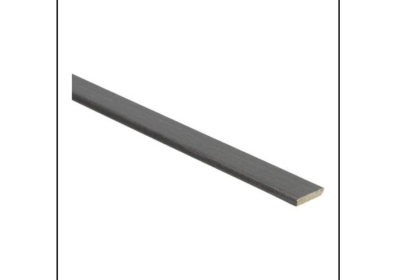 Plakplint wenge zwart 5x24 mm
