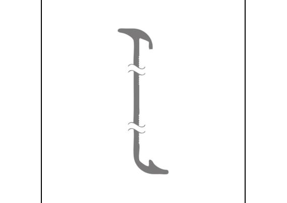 Aluminium gebogen plint 60x15 RVS (ook tbv PVC)