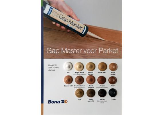 Bona Gapmaster monsterstalenkaart