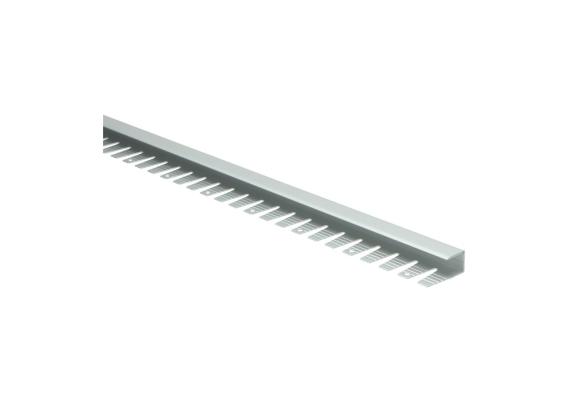 Buigbaar U-profiel 11 mm alu zilver