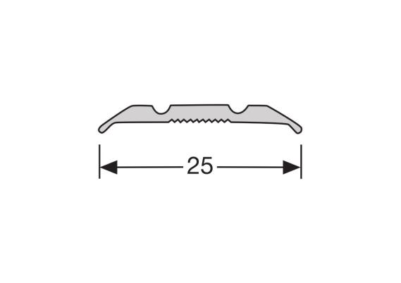 Dilatatieprofiel schroef 25 mm alu zilver