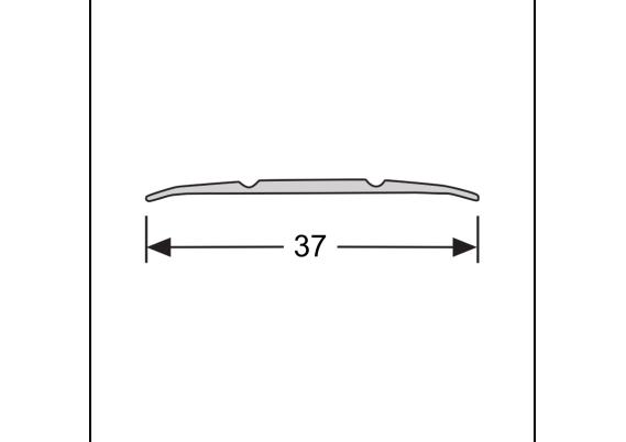 Dilatatieprofiel zelfklevend 37 mm alu zilver