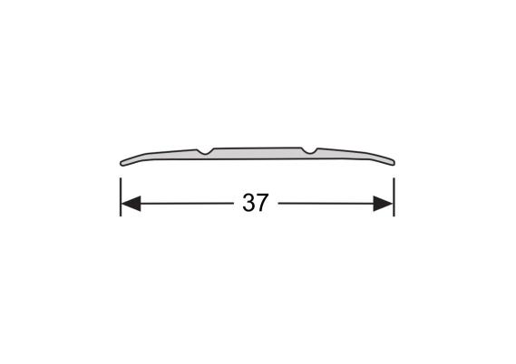 Dilatatieprofiel zelfklevend 37 mm alu zwart
