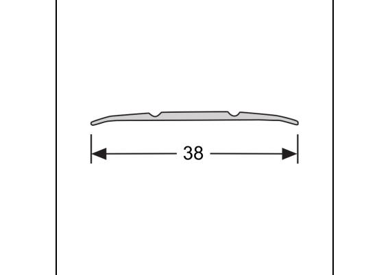 Dilatatieprofiel 38 mm fijngestreept eiken licht