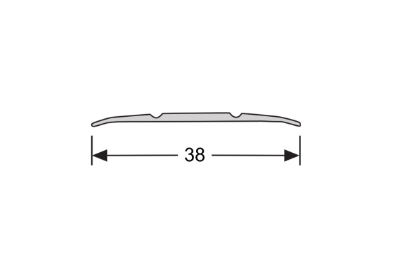 Dilatatieprofiel 38 mm trendy zwart