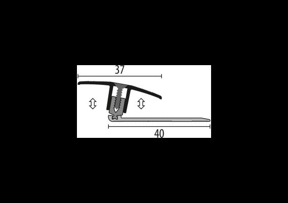 Dilatatieprofiel Kuberit 7-17 mm zand