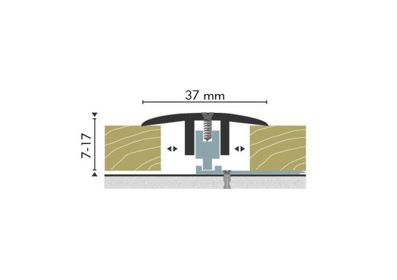 Dilatatieprofiel Kuberit 7-17 mm zilver