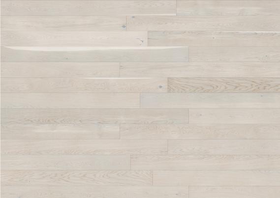Eiken Lamelparket 18 cm select white mat lak