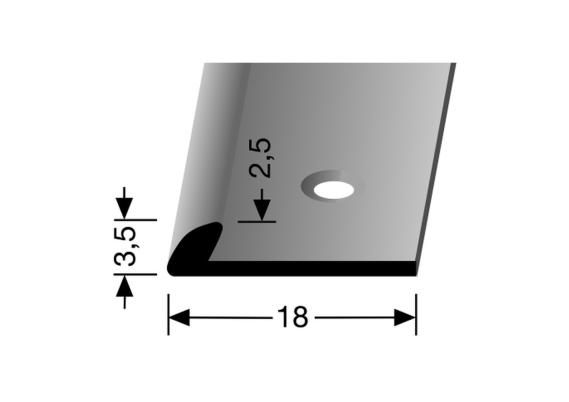 Eindprofiel 3,5mm tbv 2,5mm PVC RVS