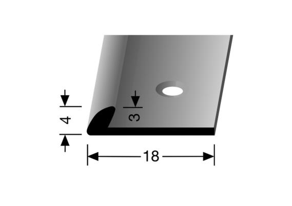 Eindprofiel 4mm tbv 3mm PVC zilver