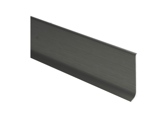 Elegante aluminiumplint RVS geborsteld mat 80x10 mm