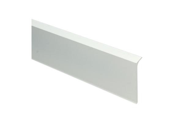 Elegante aluminiumplint wit mat RAL 9010 60x10 mm
