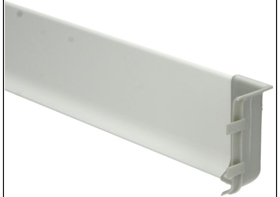 Elegante binnenhoek aluminium 100 mm