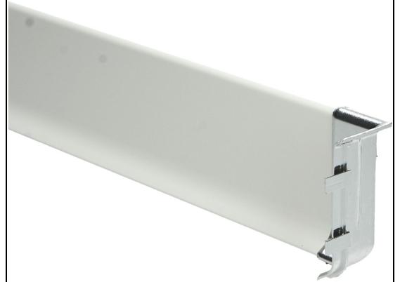 Elegante binnenhoek geborsteld hoogglans 60 mm