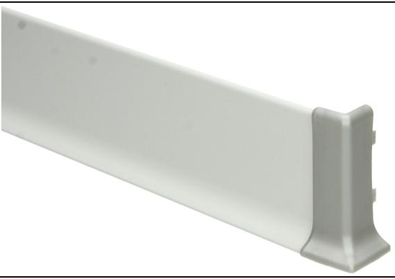 Elegante buitenhoek  aluminium 60mm