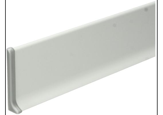 Elegante Eindst. links aluminium 60mm
