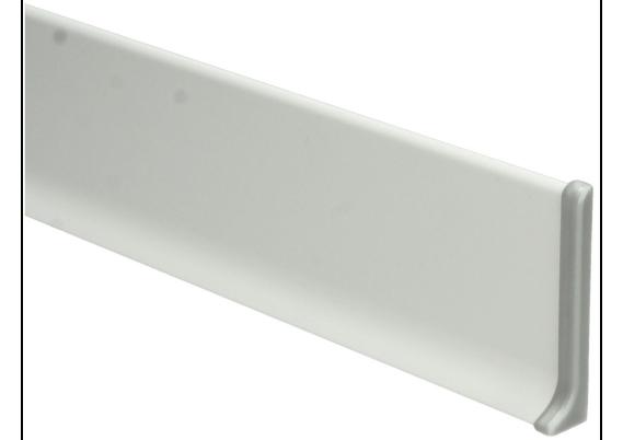 Elegante Eindst. rechts aluminium 100 mm
