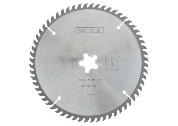 HM cirkelzaagblad prof. 190x2,6x20 60T (CS 50)