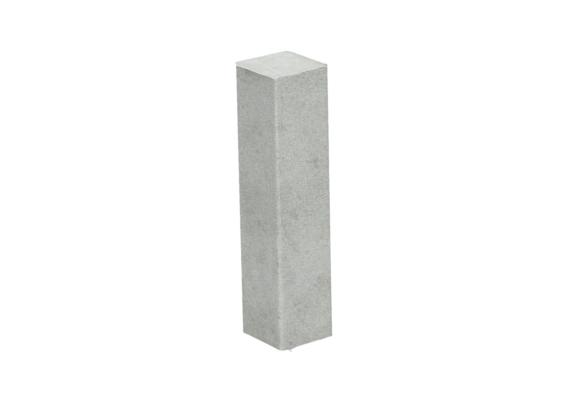 Hoek of eindstuk folie 4 stuks beton licht