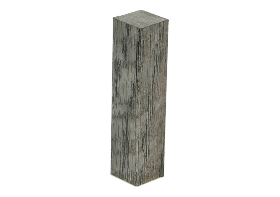 Hoek of eindstuk folie 4 stuks Castle Oak light grey