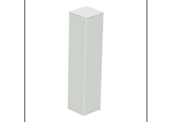Hoek of eindstuk folie 4 stuks hoogglans wit