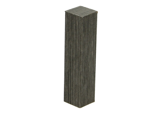 Hoek of eindstuk folie 4 stuks titanium eik