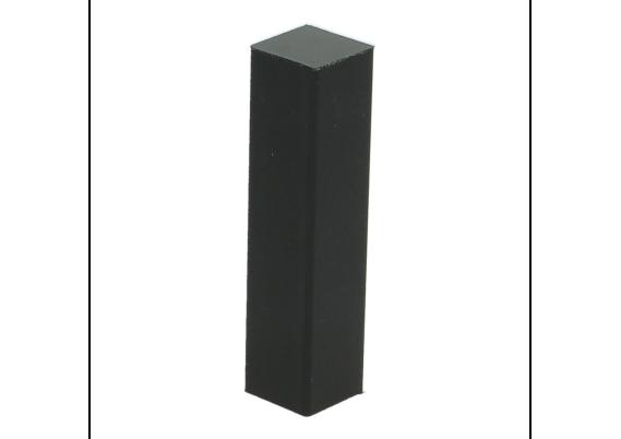 Hoek of eindstuk folie 4 stuks zwart hoogglans