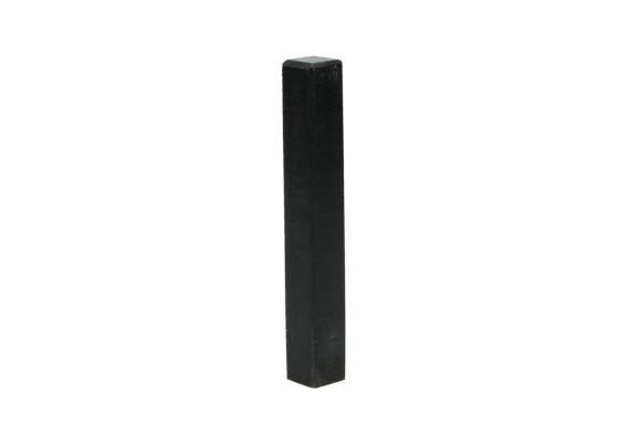 Hoek/eindstuk t.b.v MDF plint 120x15 zwart RAL9005