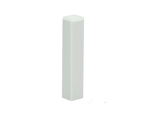 Hoek/eindstuk t.b.v. MDF plint 70x12 wit RAL9016