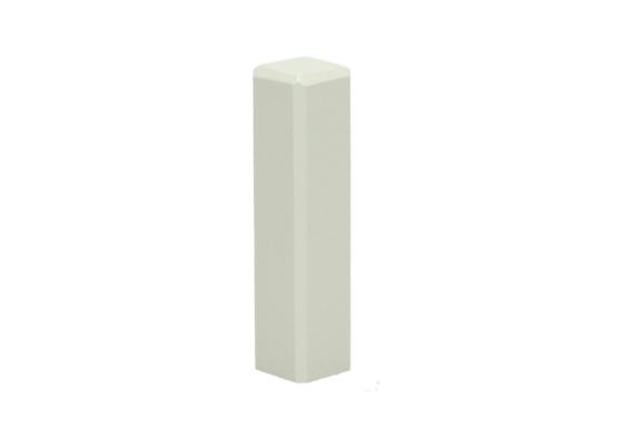 Hoek/eindstuk t.b.v. MDF plint 70x15 wit RAL9001