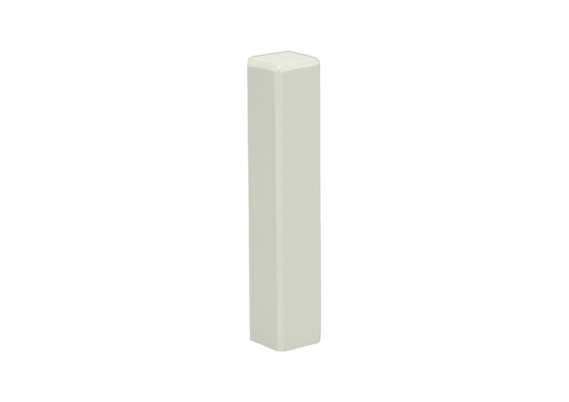 Hoek/eindstuk t.b.v. MDF plint 90x15 wit RAL9001