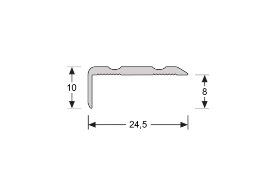 Hoeklijnprofiel 10 mm ahorn donker