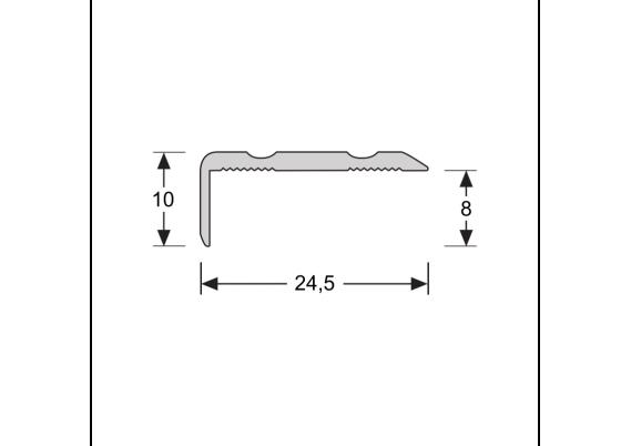 Hoeklijnprofiel zelfkl. 10 mm RVS