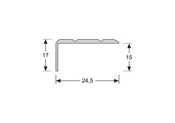 Hoeklijnprofiel zelfkl. 17 mm brons
