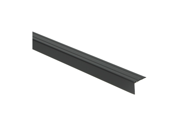 Hoeklijnprofiel zelfkl. 20 mm zwart