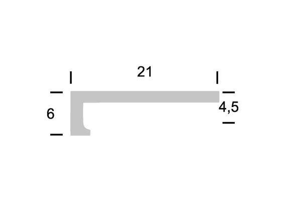 Hoeklijnprofiel zelfkl. 4 mm tbv PVC klik RVS