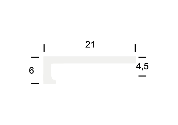 Hoeklijnprofiel zelfkl. 4 mm tbv PVC klik zilver