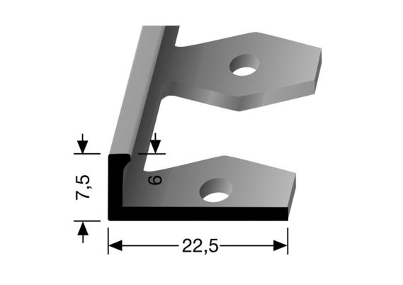 In-egaliseer eindprofiel (buigbaar) tot 6mm zilver