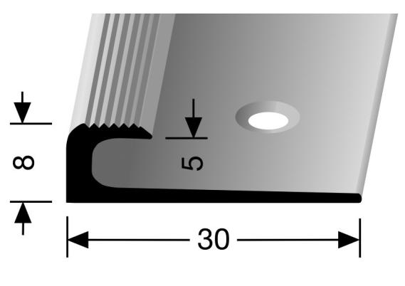 Inschuif eindprofiel 8mm tbv 5mm PVC brons