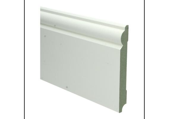 MDF Barok plint 150 MM x 18 MM wit voorgelakt RAL 9010