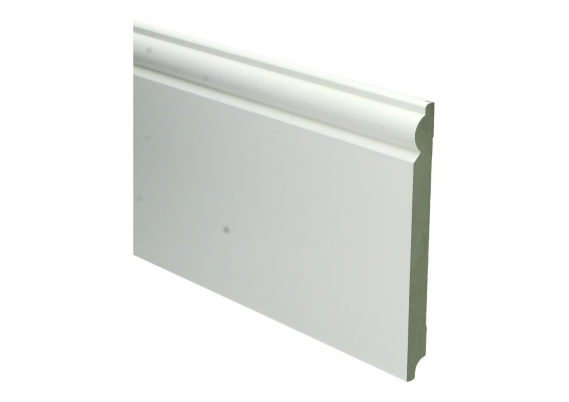 MDF Barok plint 190 MM x 18 MM wit voorgelakt RAL 9010