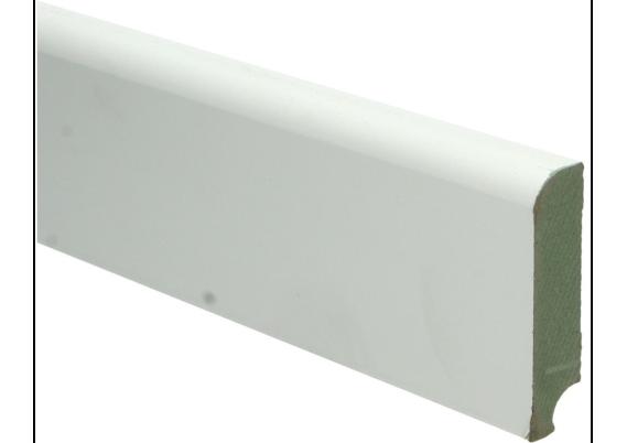 MDF Koloniale plint 76x18 wit voorgelakt RAL 9010