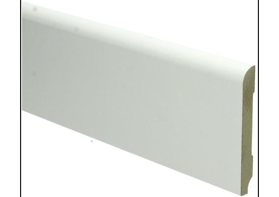 MDF Koloniale plint 90x12 wit voorgelakt RAL 9010